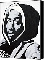 2pac Canvas Prints - Tupac Canvas Print by Michael Ringwalt