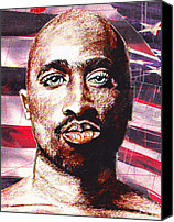 2pac Canvas Prints - Tupac Canvas Print by Michael Vanier