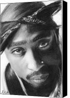 2pac Canvas Prints - Tupac Canvas Print by Nat Morley