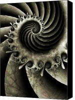 Swirl Digital Art Canvas Prints - Turbine Canvas Print by David April