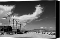 Ironworks Canvas Prints - TURBINE TOWN Palm Springs Canvas Print by William Dey