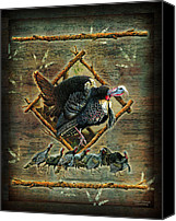 Turkey Painting Canvas Prints - Turkey Lodge Canvas Print by JQ Licensing