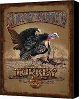 Turkey Painting Canvas Prints - Turkey Traditions Canvas Print by JQ Licensing