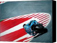 Motogp Canvas Prints - turn 10 Barcelona Canvas Print by Raoul Alburg