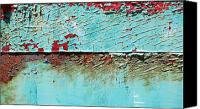Abstract Canvas Prints - Turquoise Peeling Canvas Print by Kimberly Gonzales