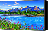 Idaho Canvas Prints - Turquoise River Canvas Print by Scott Mahon