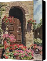 Door Canvas Prints - Tuscan Door Canvas Print by Sam Sidders