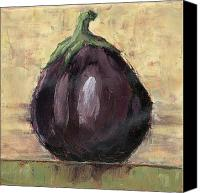 Olive Canvas Prints - Tuscan Eggplant Canvas Print by Pam Talley