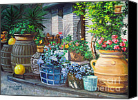 Diane Hewitt Canvas Prints - Tuscan Farmyard Canvas Print by Diane Hewitt