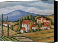 Melinda Saminski Canvas Prints - Tuscan Landscape Canvas Print by Melinda Saminski