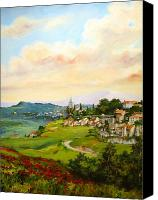 Canvas Canvas Prints - Tuscan landscape Canvas Print by Tigran Ghulyan