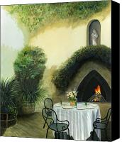 Setting Canvas Prints - Tuscan Luncheon Canvas Print by Cecilia  Brendel