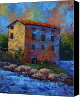 Marion Rose Canvas Prints - Tuscan Mill Canvas Print by Marion Rose