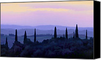 Cyprus Digital Art Canvas Prints - Tuscan Morn Canvas Print by Linda  Parker