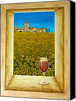 Pamela Allegretto-franz Canvas Prints - Tuscan View Canvas Print by Pamela Allegretto