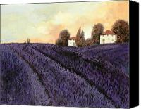Tuscany Painting Canvas Prints - Tutta lavanda Canvas Print by Guido Borelli