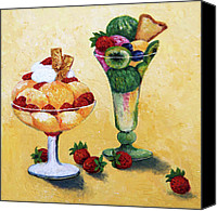 Greeting Cards Canvas Prints - Tutti Frutti Canvas Print by Enzie Shahmiri