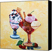 Fine Art - Still Lifes Canvas Prints - Tutti Frutti II Canvas Print by Enzie Shahmiri
