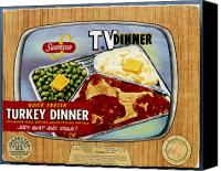 Tv Set Canvas Prints - Tv Dinner, 1954 Canvas Print by Granger