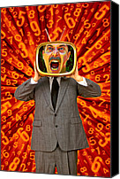 Tv Set Canvas Prints - TV Man Canvas Print by Garry Gay