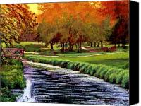 Augusta Golf Painting Canvas Prints - Twilight Golf Canvas Print by David Lloyd Glover