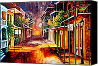 Balconies Canvas Prints - Twilight in New Orleans Canvas Print by Diane Millsap