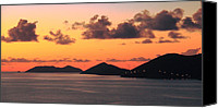 Van Dyke Canvas Prints - Twilight in the British Virgin Islands Canvas Print by Roupen  Baker