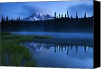 Mt. Rainier Canvas Prints - Twilight Majesty Canvas Print by Mike  Dawson