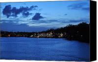 Boathouse Row Canvas Prints - Twilight Row Canvas Print by Andrew Dinh