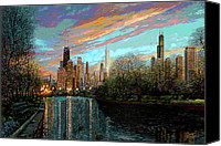 Original Art Canvas Prints - Twilight Serenity II Canvas Print by Doug Kreuger