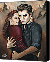 Kristen Stewart Canvas Prints - Twilight Canvas Print by Tom Carlton