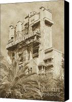 Disney Canvas Prints - Twilight Zone Tower of Terror Vertical Hollywood Studios Walt Disney World Prints Vintage Canvas Print by Shawn OBrien