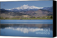 Snow Capped Canvas Prints - Twin Peaks McCall Reservoir Reflection Canvas Print by James Bo Insogna