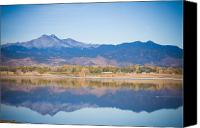 Buy Framed Prints Canvas Prints - Twin Peaks Reflection Canvas Print by James Bo Insogna