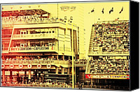 Target Field Canvas Prints - Twins Fans Countdown to Cooperstown Canvas Print by Susan Stone