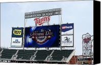 Minnesota Twins Canvas Prints - Twins Home Opener 2010 Canvas Print by Ron Read
