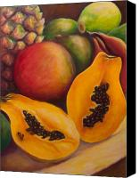 Mangoes Canvas Prints - Twins Canvas Print by Shannon Grissom