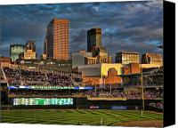 Minnesota Twins Canvas Prints - Twins Stadium Canvas Print by Laurie Prentice