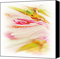 Lime Canvas Prints - Twisted Blossoms  Canvas Print by Sharon Lisa Clarke