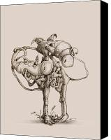 Funny Drawings Canvas Prints - Twisted Canvas Print by Philip and Monica Straub