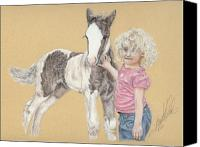 Equestrian Pastels Canvas Prints - Two Babies Canvas Print by Terry Kirkland Cook
