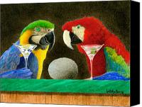 Bars Painting Canvas Prints - Two birds with one stone... Canvas Print by Will Bullas