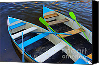 Rowing Canvas Prints - Two boats Canvas Print by Carlos Caetano