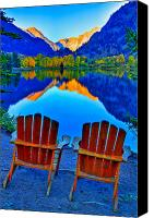 Rocky Mountains Canvas Prints - Two Chairs in Paradise Canvas Print by Scott Mahon
