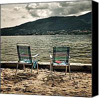 Reading Canvas Prints - Two Chairs Canvas Print by Joana Kruse