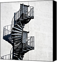 Spiral Staircase Canvas Prints - Two Doors Canvas Print by Odd Jeppesen
