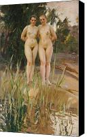 Nudes Canvas Prints - Two Friends  Canvas Print by Anders Leonard Zorn