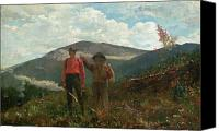 1875 Canvas Prints - Two Guides Canvas Print by Winslow Homer