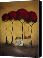 Featured Painting Canvas Prints - Two Hearts Canvas Print by Charlene Zatloukal