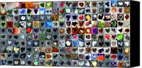 Collage Canvas Prints - Two Hundred and One Hearts Canvas Print by Boy Sees Hearts